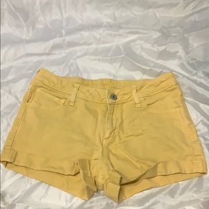 Arizona Jeans Yellow Jean Shorts